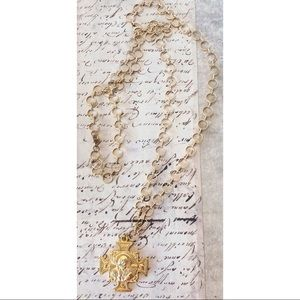 Jewelry - Gold Cross Religious Medallion PAX Necklace